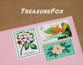 Botanical Beauties Two .. Unused Vintage US Postage Stamps .. mail 10 two ounce letters