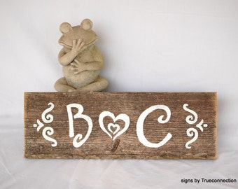 Initial Wedding Sign Table Centerpiece Wood Rustic Elegant Romantic Sign In Table Welcome To Our Wedding Love Heart BarnWood Decor True Love