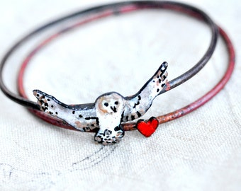 Heart Snatcher' - Enamel Charm Bangle
