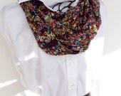 Infinity Boutique Scarf - Loop Scarf - Cowl - Soft - Neutral Earth Tones Taupe Black Brown Blue Red