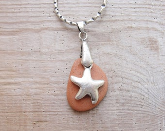 Pebble and Starfish Keychain / Bag adornment