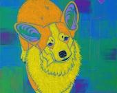 Corgi Art - Corgi Print - Corgi Pop Art - Corgi Painting - Dog Pop Art - Angela Bond Art - A Bond - by dogpopart