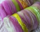 Batt sale buy 3 get 1 free 4 oz. Rosebud merino alpaca silk firestar