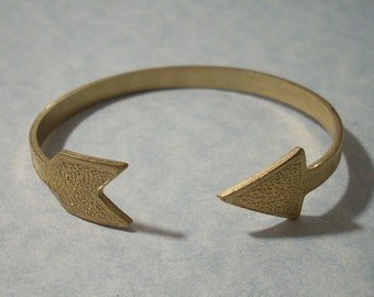 Arrow Cuff Bracelet Adjustable Brass Arrow Bracelet Raw Brass Arrow Jewelry Archery Jewelry Brass Cuff Bracelet