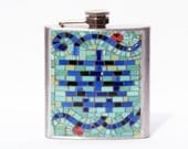 HIP FLASK - Canal Street Mosaic - Canal has Character - 6oz Flask