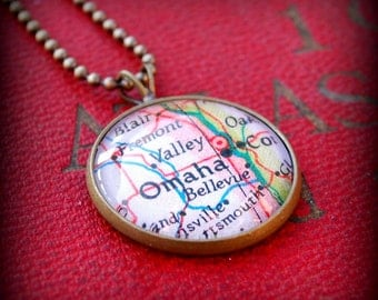 Omaha Map Necklace