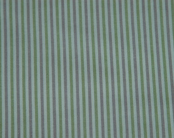 Fabric High Chair-Lavender. Green and Cream Stripes