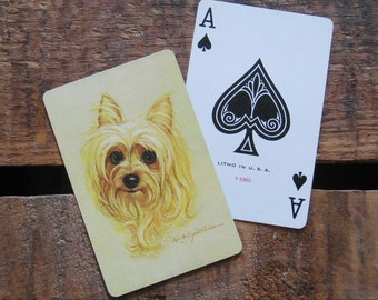 Vintage Golden Puppy Playing Card Deck - Full Deck