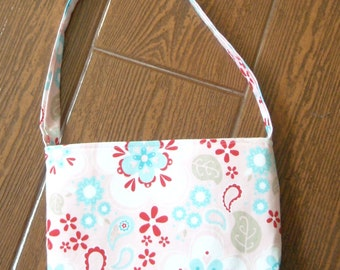 Twice as nice pink floral toddler purse