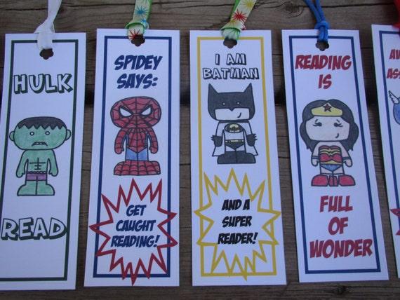Spiderman bookmarks superhero instant download by CreaseStudio