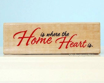 Home Heart Rubber Stamp