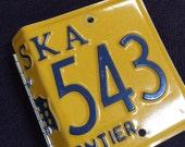 Alaska license plate photo album