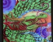 Chinese Asian Dragon Magnets Fridge Magnets Custom Order Original Fantasy Art by Nina Bolen