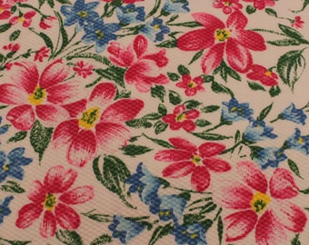 SALE - Cute Floral Pique - 2 7/8 Yards - Remnant