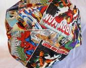 Shower Cap Vintage Comic Book Superhero Print - Retro Bath and Beauty Cap