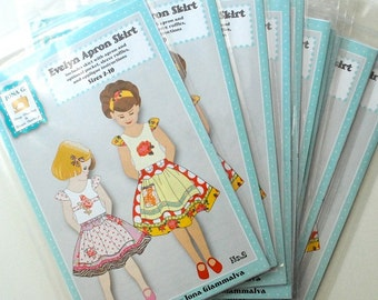 10 Pack ... Closing Out My Paper Patterns ... Jona G sewing pattern ....Evelyn Apron Skirt.....paper pattern...Size 2-10