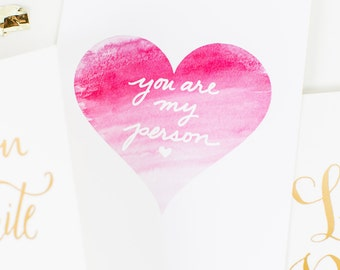 You are my Person ~ Greeting Card