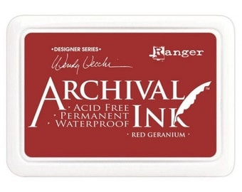 Archival ink Deep geranium stamp pad