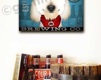 Cockapoo Brewing Dog beer Company original graphic illustration on gallery wrapped by Stephen Fowler