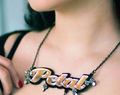 FULL SPIKES name necklace