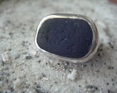 Bay View...blue sea glass ring