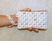 Kawaii Hedgehogs - Wristlet Purse with Removable Strap and Interior Pocket