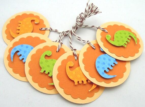 Dinosaur Gift Tags - Set of 6 Tags