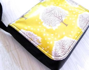 Yellow trees mini satchel bag by Missy Mao Mao