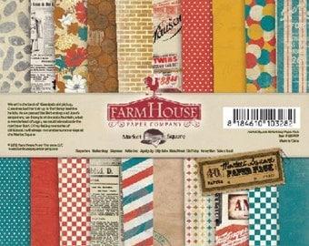 Farmhouse Paper Co Market Square 6x6 Paper Pad