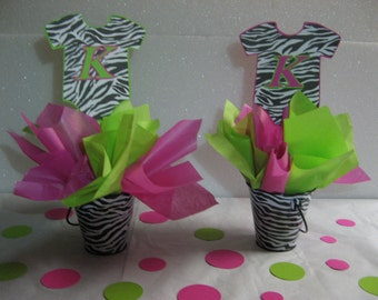 Baby shower zebra table decorations