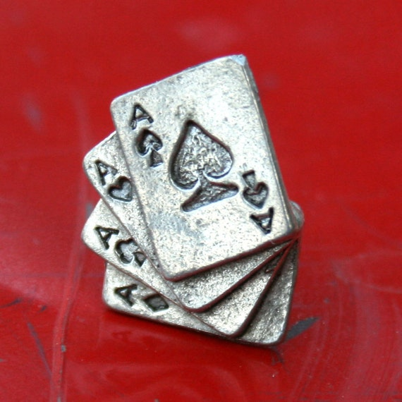 Tie Tack - Playing Cards, Aces