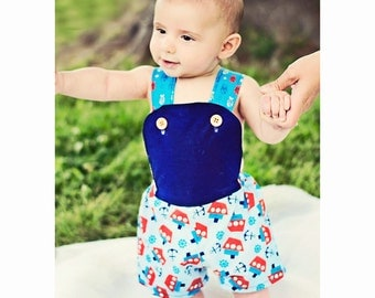 Baby Sun Suit Pattern -- Sunny Day Suit -- Girls up to 6 and baby boys up to 2t Instant