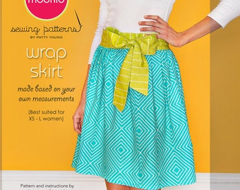 WRAP SKIRT Micro-Mini PDF Downloadable Pattern Tutorial by Modkid... for Women - Instant Download