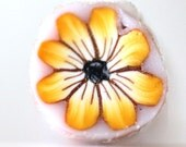 Raw Polymer Clay Cane, Bright Yellow Flower Cane Millefiore Raw Unbaked e515
