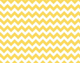 SALE Riley Blake Small Yellow Chevron Stripe