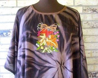 Plus Size Lightweight Embroidered Autumn Caftan