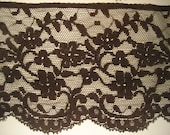 Vintage Black Lace Trim Yardage 3.2 yards Victorian, Edwardian, Goth, Steampunk Supply