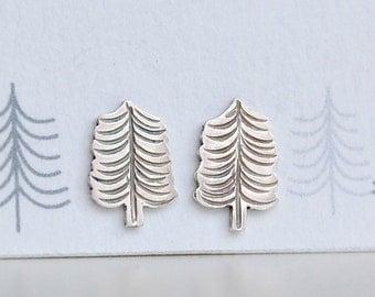 tiny fir tree earrings
