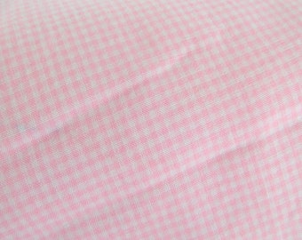 Sale--Vintage Fabric- Pink Gingham--Sale