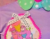 Popples sweater, 80s sweatshirt fairy kei sweet lolita pastel goth size S