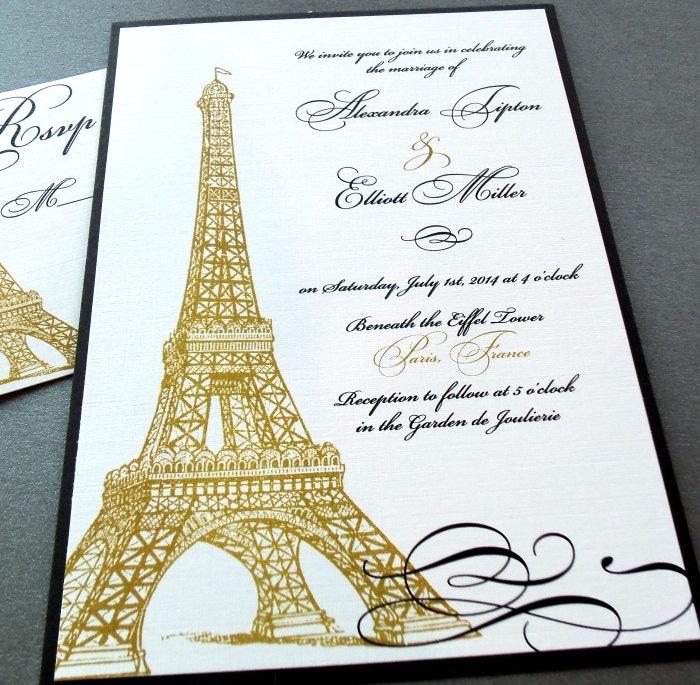 Eiffel Tower Wedding Invitations: Lighting