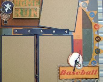 Scrapbook Baseball Premade Page Sports Layout - Kitsnbitscraps
