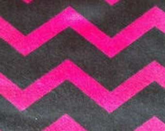 PINK BLACK CHEVRON flannel lounge pants/pajama pants children's sizes 0-3 to size 16.  Contact me for adult sizes small to 3x.
