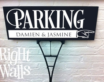 Wedding Parking Yard Sign Bold Personalized Direction Custom Wedding Outdoor Directional Sign with Stake