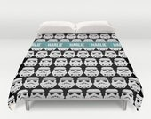 Star Wars Duvet Cover, Stormtrooper duvet cover, Star Wars sheets, Customized, Personalized duvet, king duvet cover, toddler bedding