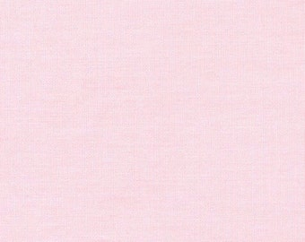 Monaluna Solid Pink Organic Cotton Fabric Poplin