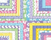 Modern Patchwork Baby Blanket Crib Blanket made with Me & My Sister Favorites Collection for Moda -  Soft flannel back