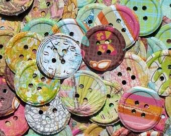 Urban Rhapsody Paper Button Embellishments