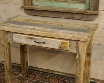 "Driftwood Desk with Draw (38"" x 24"" x 30""H)(Custom Size new pictures soon)"