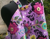 Nursing Cover - Dark Lavender Floral